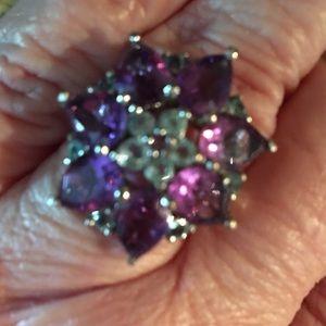 Amethyst flower ring